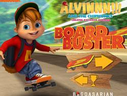 Alvin cu Skateboardul