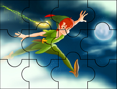 Puzzle cu Peter Pan Printre Nori