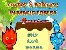 Baiatul de Foc si Fata de Apa in Padurea Magica