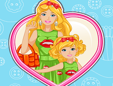 Barbie si Bebelusa Rochite Identice