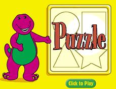 Barney Puzzle cu Forme Geometrice