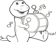 Barney si Prietenii Carte de Colorat