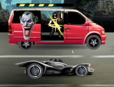 Batman vs Joker in Trafic