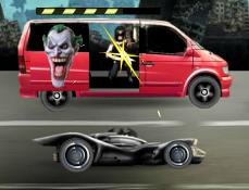 Batman vs Joker in Trafic