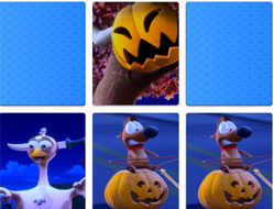 Catelul Pat de Memorie de Halloween