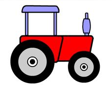 Coloreaza Tractorul