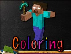 Coloreaza cu Minecraft