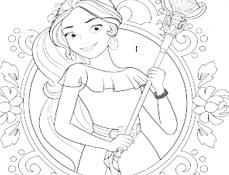 Elena din Avalor de Colorat