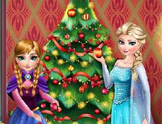 Elsa si Anna Impodobeste Bradul