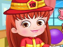 Fetita Hazel Haine de Pompier