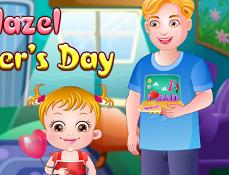 Fetita Hazel la Ziua Tatalui