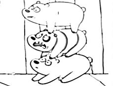 Fratii Ursi de Colorat
