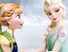 Frozen Fever Puzzle cu Elsa si Anna