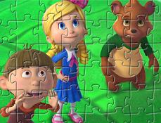 Goldie si Ursulet la Joaca Puzzle