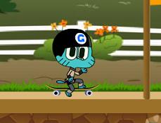 Gumball Aventura pe Skateboard