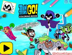 Haideti Tineri Titani Carte de Colorat