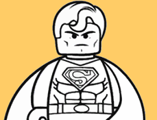 Lego Superman de Colorat