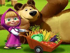 Masha si Ursul Munca la Ferma