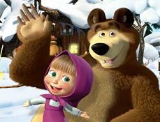 Masha si Ursul Obiecte Ascunse