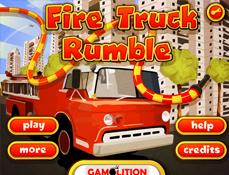 Masina de Pompieri in Oras