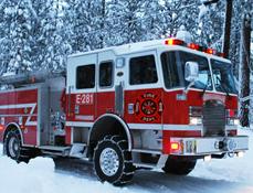 Masini de Pompieri in Actiune Iarna 2