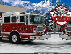 Masini de Pompieri in Actiune Iarna