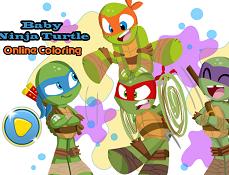 Micile Testoase Ninja de Colorat