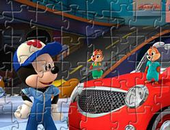 Mickey si Pilotii de Curse Puzzle