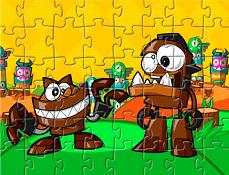 Mixels Gobba si Chomly Puzzle