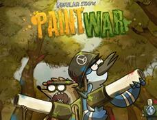 Mordecai si Rigbi Paint War