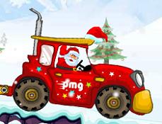 Mos Craciun si Tractorul cu Cadouri