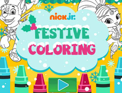 Nick Jr Carte de Colorat Festiva