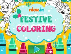 Nick Jr Carte de Colorat Festiva