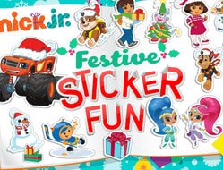 Nick Jr Stickere de Craciun