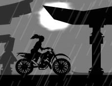 Ninja pe Motocicleta