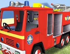 Pompierul Sam si Masina de Pompieri