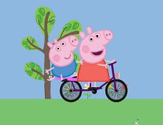 Purcelusa Peppa Aventura pe Bicicleta