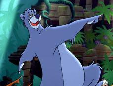 Puzzle cu Baloo si Animalele din Cartea Junglei