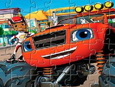 Puzzle cu Blaze si AJ