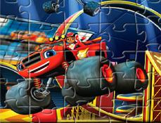 Puzzle cu Blaze si Masinile Uriase