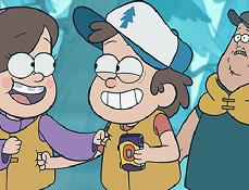 Puzzle cu Dipper si Mabel