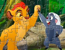 Puzzle cu Kion si Bunga