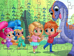 Puzzle cu Shimmer si Shine 2