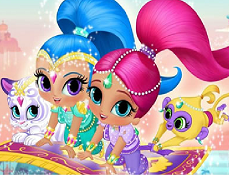 Puzzle cu Shimmer si Shine