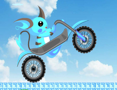 Raichu Albastru cu Motocicleta