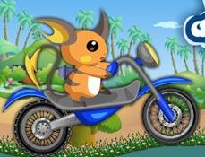 Raichu cu Motocicleta