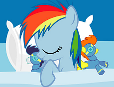 Rainbow Dash Doarme