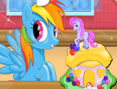 Rainbow Dash Gateste Tort