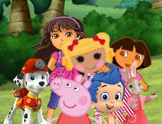 Scene cu Personajele Nickelodeon