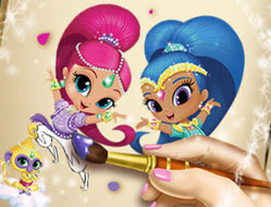 Shimmer si Shine Carte de Colorat